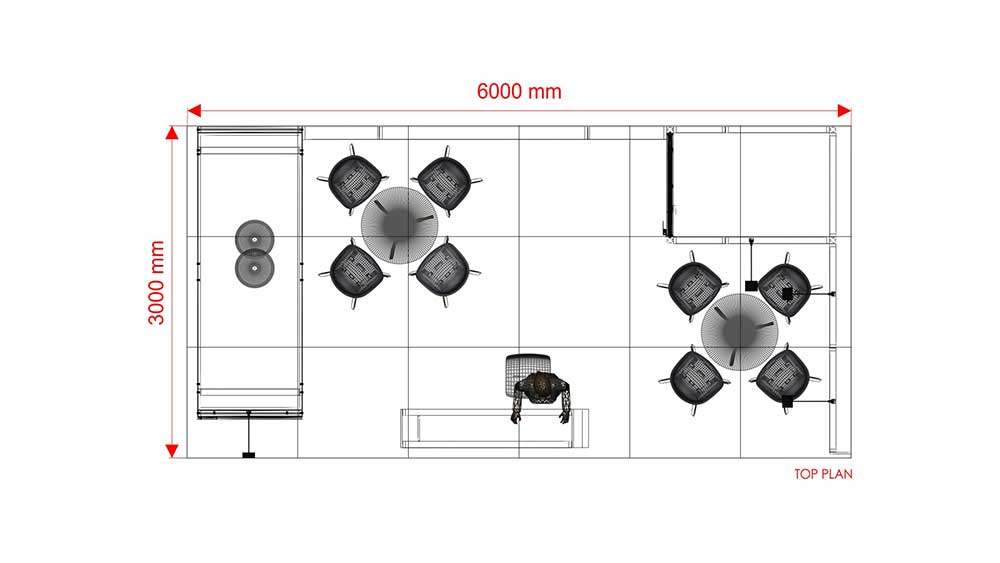 6x3m eckstand re6x3 003 18 m messestand mieten. Black Bedroom Furniture Sets. Home Design Ideas