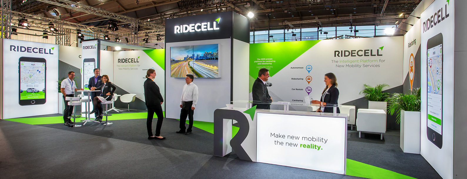 Ridecell Messestand