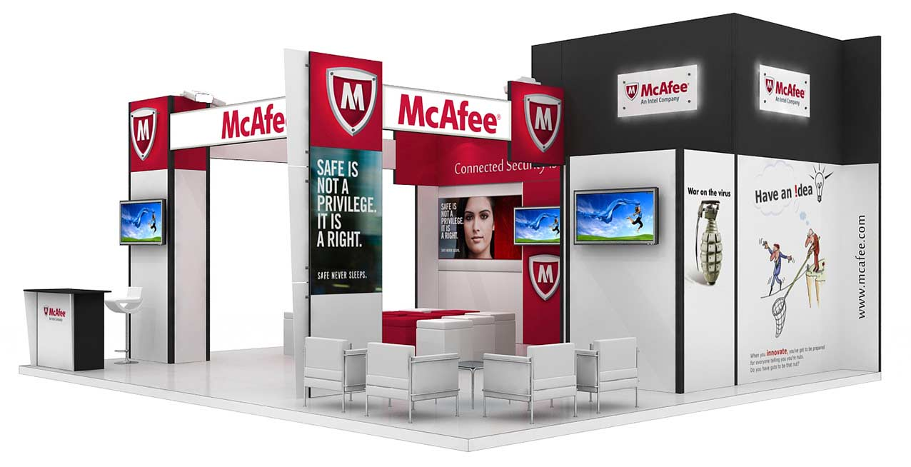 McAfee Creeya Messestand
